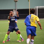 FORWARD KAMAL HASSAN FROM SEATTLE STARS AT SEATTLE COMMUNITY CUP 2013