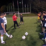 PHYSICAL TRAINER OSCAR SANTANA AND SEATTLE STARS FC PLAYERS AT STARFIRE SPORTS COMPLEX