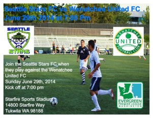 Z SEATTLE STARS FC MATCH FLYER