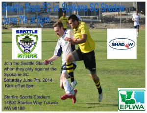 z seattle stars fc vs spokane poster